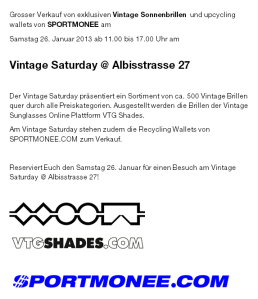 Flyer Vintage Saturday Facebook 26. Januar 2013